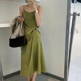打底裙 醋酸緞面黑色吊帶洋裝女設計感小眾外穿絲質夏季內搭打底中長裙 陽光好物