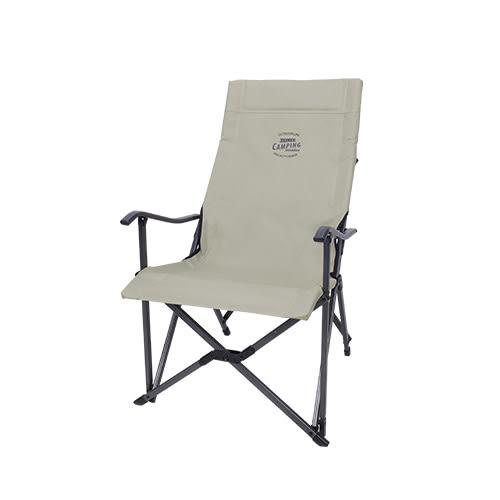 Snowline 韓國 Relax 鋁合金折收扶手椅 淺棕 SN95ULC002 大川椅 折疊椅 露營 休閒椅 [易遨遊]