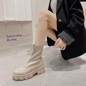 長靴復古馬丁短靴女潮英倫秋季新款百搭秋冬單靴不過膝騎士靴