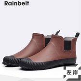 雨鞋防水鞋男士雨鞋時尚短筒雨靴戶外防滑膠鞋【左岸男裝】