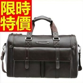 真皮旅行袋-方便可肩背多用途出國男手提包1色59c25【巴黎精品】