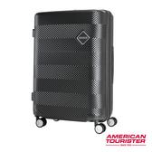 新秀麗 AT美國旅行者 新款 GROOVISTA 避震飛機輪 可擴充設計 行李箱/旅行箱-24吋(黑) GF6