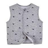 男Baby男童鋪棉背心可愛恐龍灰色純棉背心現貨 歐美品質