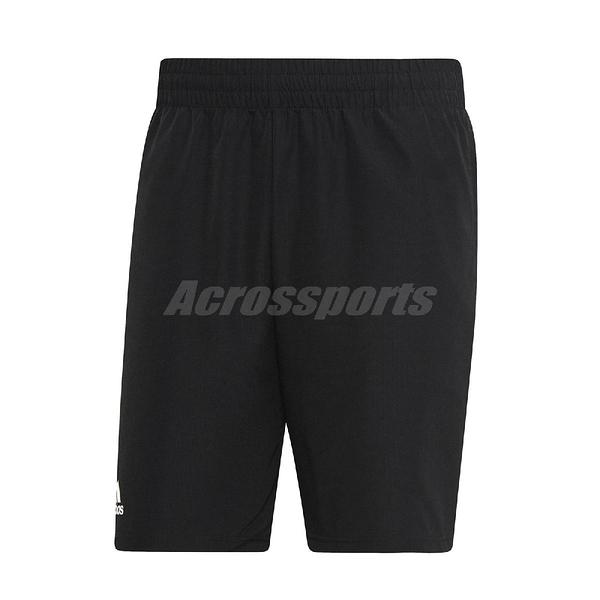adidas 短褲 Club Short 9-inch 黑 白 男款 舒適透氣 網球 【ACS】 DU0877