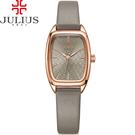 JULIUS 聚利時 熱浪來襲海浪錶面皮帶腕錶-大象灰/23X35mm 【JA-997E】