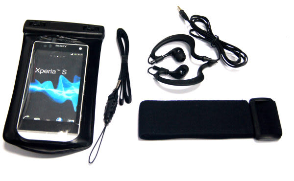 Sony Xperia T TX專用防水袋 附送防水耳機 內建耳機孔 3.5mm Sony Xperia S iON P U V ARCO S皆可使用