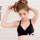 【露娜斯】無鋼圈內衣。螢光Y型舒適透氣網織運動背心【紫/粉/綠】S903