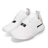 adidas 休閒鞋 NMD_R1 白 黑 日文 襪套式 慢跑鞋 運動鞋 男鞋【PUMP306】 BD7741