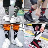 長襪男潮牌襪子男純棉街頭歐美中筒襪冬季加厚長筒籃球韓版嘻哈潮