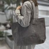 真皮手提包-肩背簡約大容量羊皮女托特包2色73yq39【時尚巴黎】