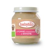 BABYBIO 有機蘋果香蕉鮮果泥/果泥130ml-法國原裝進口4個月以上嬰幼兒專屬副食品