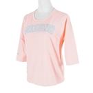 Mizuno T-Shirt [D2TA120266] 女 T恤 短袖 七分袖 復古 休閒 修飾 MIT 粉紅