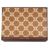 CELINE經典mini BLASON LOGO毛毯禮盒(駝色)084107