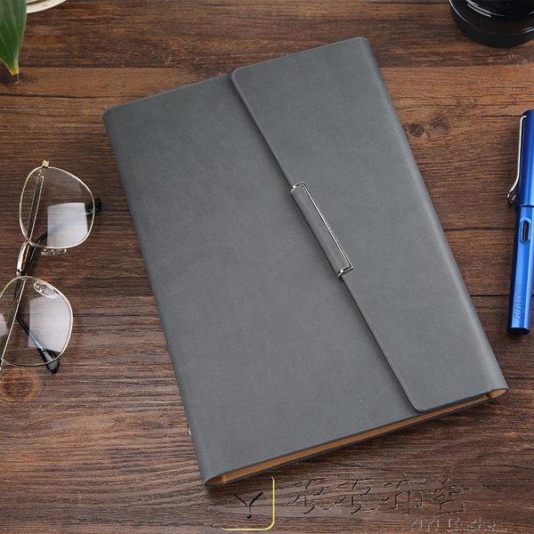 雙12好禮 A5B5活頁記事本商務筆記本文具創意簡約皮面日記本子定制LOGO