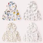 聖誕節 防曬衣女童開襟上衣夏男童空調衫嬰兒薄外套熊猫本