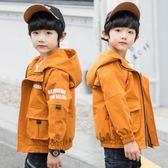 男童夾克風衣外套春秋裝中大兒童沖鋒衣休閒中長版潮-新主流