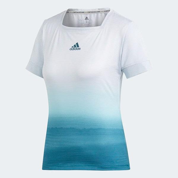 ADIDAS 19SS  吸濕排汗 領口加寬 女網球短TEE Parley Tee系列  DP0270 贈1襪【樂買網】