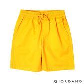 【GIORDANO】童裝素色鬆緊腰卡其短褲-42 琥珀黃