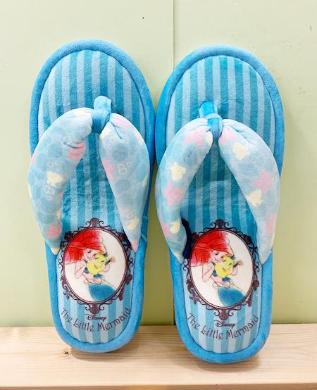 【震撼精品百貨】The Little Mermaid Ariel_小美人魚愛麗兒~夾腳室內拖鞋~藍色#59505