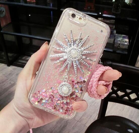 手機殼 流沙 液體 星砂 亮片 奢華 鑲鑽 蘋果 iphone 6 6s plus 愛心 沙漏 TPU 軟殼 潮 水鑽