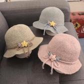 女童帽子秋冬季兒童帽女寶寶漁夫帽女孩春秋公主1歲3韓版時尚潮帽