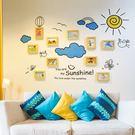 照片墻 - 假日墻貼相框墻客廳臥室創意組合10框 jy壁裝飾照片墻【快速出貨好康八折】