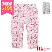 網路獨家-JJLKIDS 女童 時尚動物紋蝴蝶結休閒六分褲(2色) 售價:299