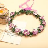[紫色紙花 人造花髮帶 仿真花花圈 花冠假花環] 婚禮小物 生日禮物 求婚&畢業表演花禮