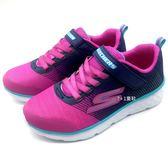 《7+1童鞋》中童 SKECHERS 81354L/NVPK 輕量 透氣 慢跑鞋 運動鞋 B982 藍色
