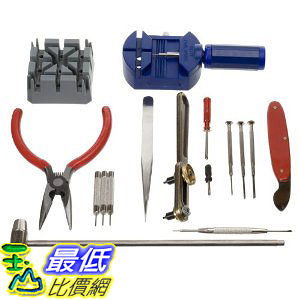 [美國直購 ShopUSA]  16-Piece Deluxe Watch Repair Tool Kit WRK001 $571