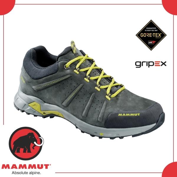 【MAMMUT 男 Convey Low GTX 《石墨灰》】3030-03220-00210/登山鞋/健行/戶外/防水透氣
