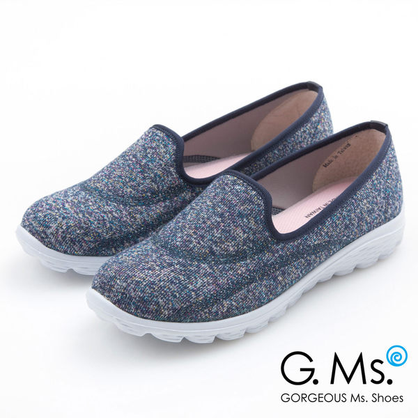 G.Ms. MIT極輕量系列-混彩針織記憶鞋墊休閒鞋*靛藍