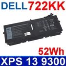 戴爾 DELL 722KK 52Wh 4芯 原廠電池 2XXFW FP86V WN0N0 XPS 13 9300