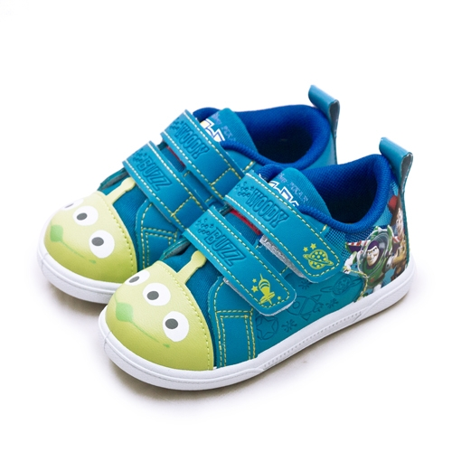 LIKA夢 Disney 迪士尼 15cm-20cm 玩具總動員 TOY STORY 兒童運動鞋 台灣製造 藍綠 89706 中童