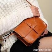 新款小方包女士車線女包復古單肩包斜背包手機小包包  居家物語