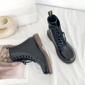 馬丁靴女英倫風 新款百搭薄款透氣單靴 瘦瘦短靴子夏 中秋降價