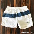 速干沙灘褲男 健身跑步運動三分短褲帶內襯 寬鬆大碼休閒大褲衩 檸檬衣舍