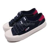Fila 餅乾鞋 319T 深藍 紅 白底 魔鬼氈 男女鞋 休閒鞋 情侶鞋 【ACS】 4C319T331