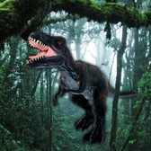 動物模型 仿真動物侏羅紀模型軟膠男孩兒童超大霸王龍大號三角龍