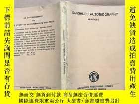 二手書博民逛書店GANDHIJI S罕見AUTOBIOGRAPHY ABRIDG