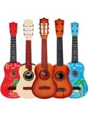兒童仿真樂器 尤克里里初學者兒童仿真小吉他玩具可彈奏音樂琴男孩女孩樂器寶寶【全館免運】