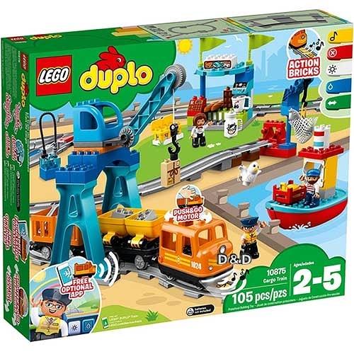 樂高積木 LEGO 2018《 10875 》DUPLO Town得寶系列 - 貨運列車╭★ JOYBUS玩具百貨