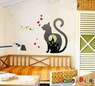 壁貼【橘果設計】夜光貓咪 DIY組合壁貼...