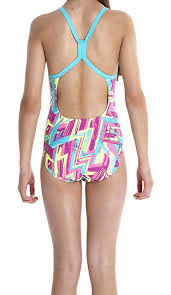 [陽光樂活]SPEEDO 女競技連身泳裝 SD809142A724 紫*藍 (特價出清)