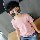 左西童裝男童短袖T恤夏裝2018新款 兒童純棉夏季上衣中大童韓版潮  泡芙女孩輕時尚