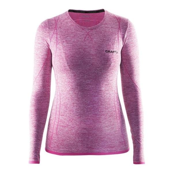 【速捷戶外】瑞典Craft 1903714 全天候長袖內著衣(女)-粉紅, 滑雪 跑步 路跑 野跑 馬拉松 夜跑