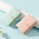 短夾 小清新錢包女小巧可愛學生夏超薄短款零錢卡包2021新款兔折疊錢夾