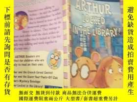 二手書博民逛書店Arthur罕見locked In the library:亞瑟鎖在 圖書館裏Y200392