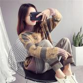 秋冬毛衣女 寬鬆外穿開衫v領外套 加厚慵懶風針織上衣外套