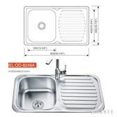 304不銹鋼瀝水板水槽單槽廚房套餐加厚雙槽洗菜盆單盆大號洗碗池 qf26801【pink領袖衣社】